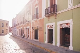 Campeche Buildings - Driving in Mexico Road Trip