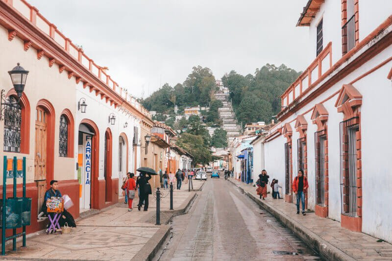 The pretty streets of San Cristobal - Driving in Mexico Road Trip