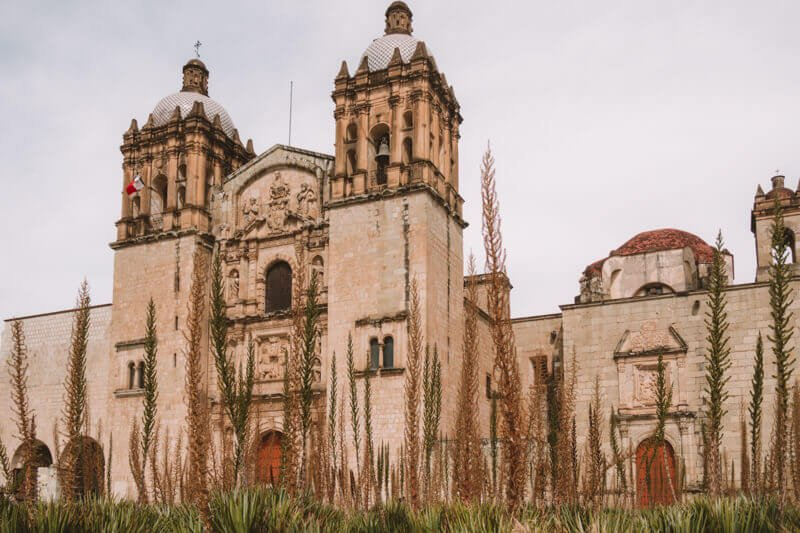 Templo de Santo Domingo church Oaxaca City - Driving in Mexico Road Trip