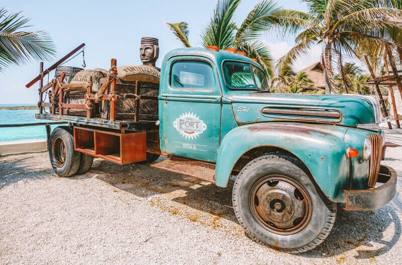 An old Mexican truck - Driving in Mexico Road Trip