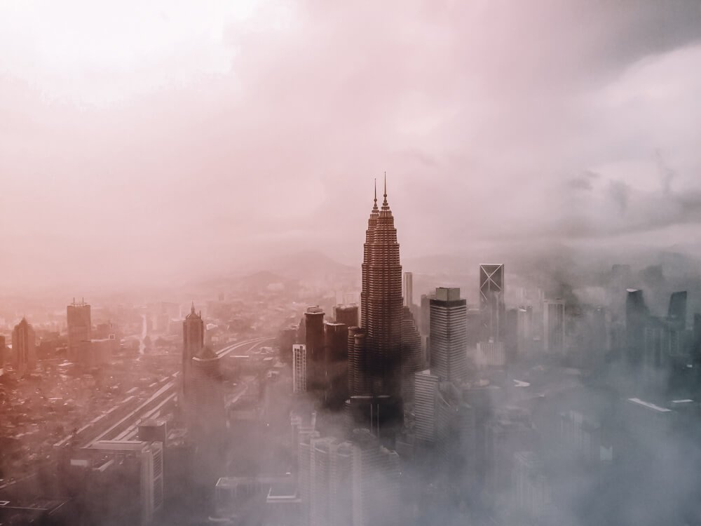 KL in mist for 3 day itinerary Kuala Lumpur, Malaysia and Kuala Lumpur 1 day itinerary