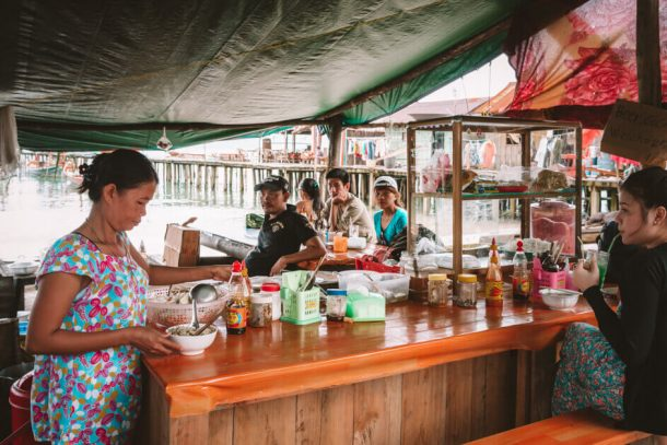 Amazing soup lady on Koh Rong Island for Backpacking Cambodia Itinerary