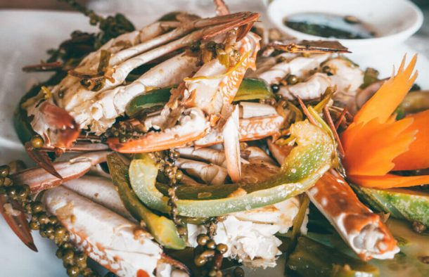 Kampot pepper mud crab for Backpacking Cambodia Itinerary