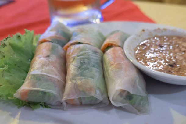 Vietnamese rolls for Backpacking Cambodia Itinerary