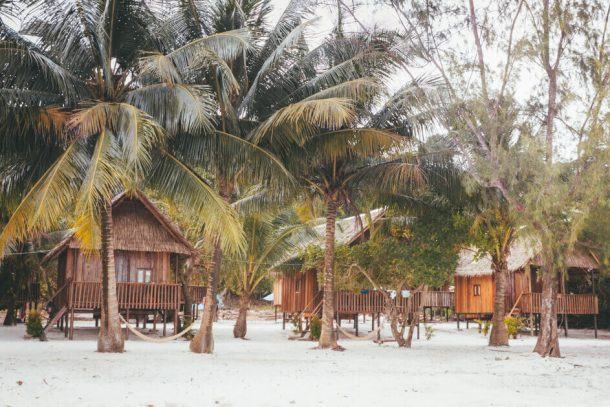 Bungalows in Koh Rong for Backpacking Cambodia Itinerary
