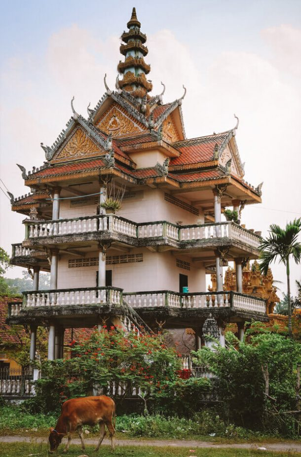 Pagoda in Battambang for Backpacking Cambodia Itinerary