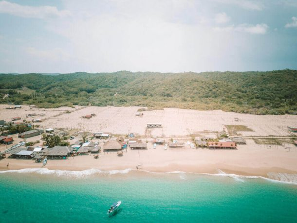 San Agustin Bay from a drone for Best Beaches in Oaxaca Mexico