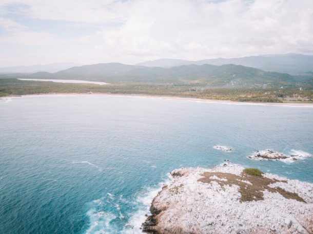 Playa Roca Blanca from a Drone for Best Beaches in Oaxaca Mexico