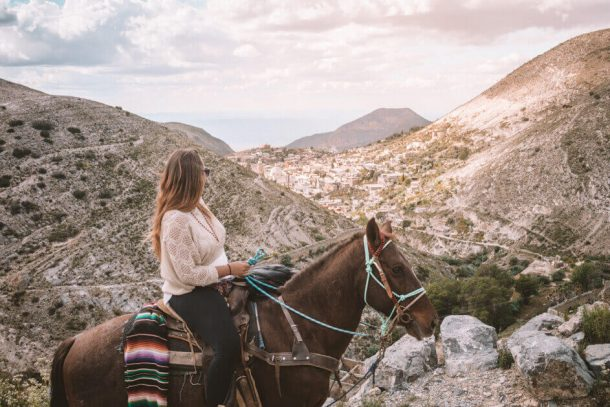 Real de Catorce horse riding - Driving in Mexico Road Trip