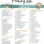 Want the ultimate packing list for travel? Easily pack for summer, autumn, winter and spring around the world with this awesome travel packing list! Includes a FREE international packing list printable, so you'll never forget a thing what packing lastminute!