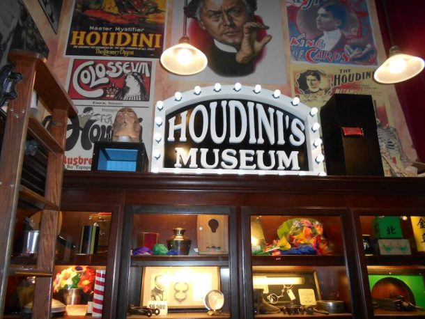 Outside Houdini Museum for Unique Things to do in New York City, USA