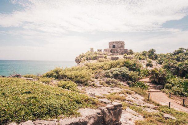 Agua Tulum Ruins for Renting a car in Playa del Carmen