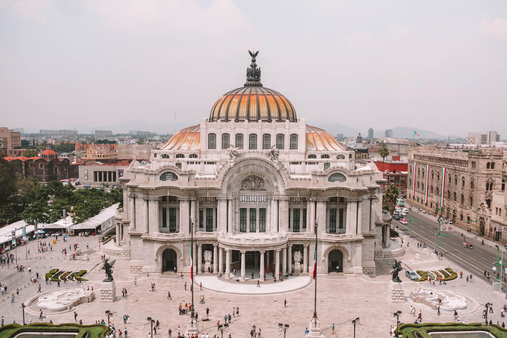 Bellas Artes Mexico City for Planning a trip to Mexico on a budget