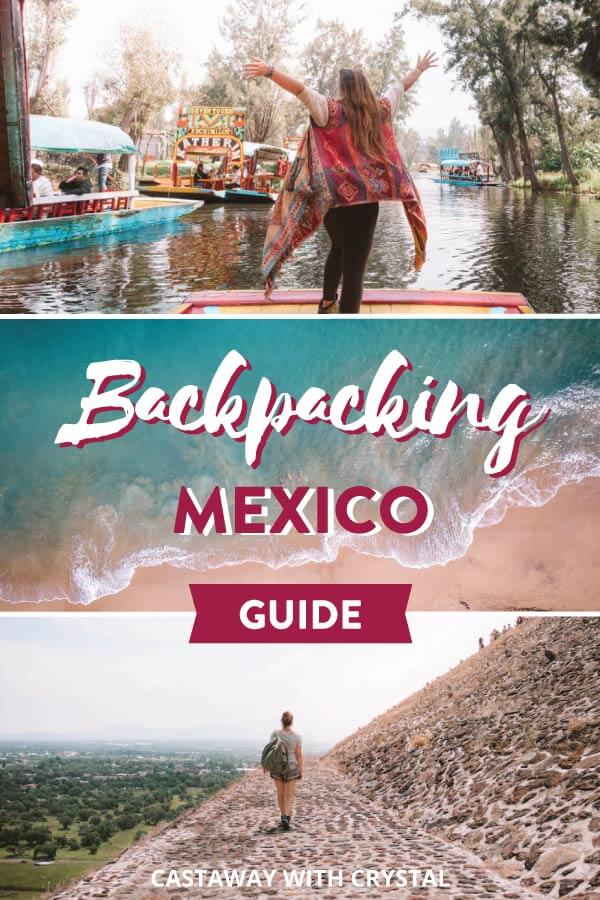 Spliced photography from around Mexico including beaches and ruins for post: Planning a trip to Mexico on a budget