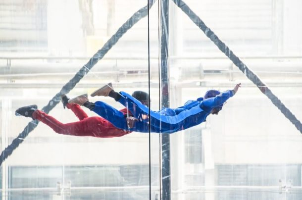 indoor skydivers flying for Unique Things to do in NYC, USA