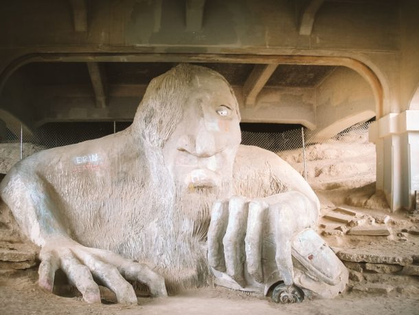 The Fremont Troll for 3 days in Seattle itinerary