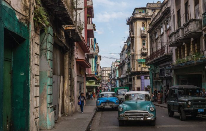 Old cars in Old Havana, Cuba