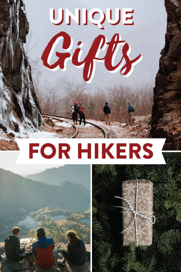 Unique Gifts For Hikers Image for Pinterest