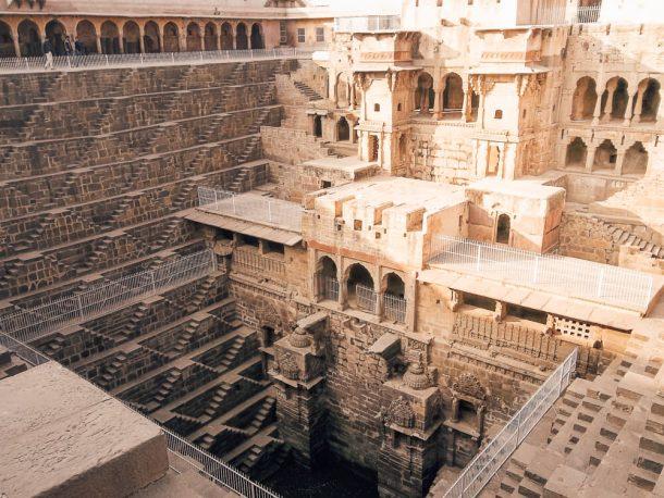Chand Baori stepwell for Jaipur Itinerary 3 days in Jaipur