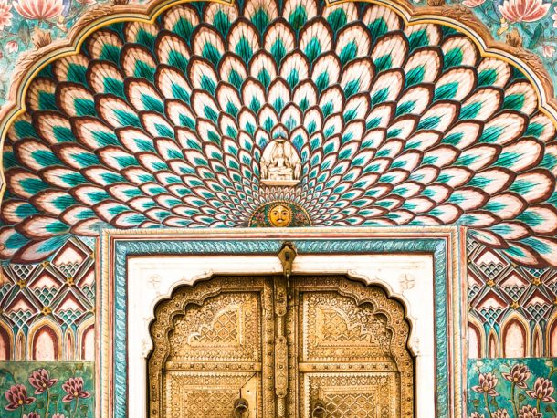 Peackock Door at City Palace for Jaipur Itinerary 3 days in Jaipur