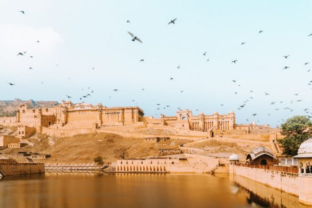 Amer Fort (Amber fort) from outside for Jaipur Itinerary 3 days in Jaipur