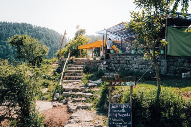 Small restaurant on hillside selling whole foods for Best places to visit in Dharamshala and McLeodganj