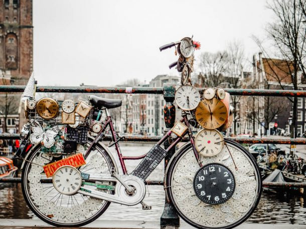 Flower bike man is a weird thing to do in Amsterdam