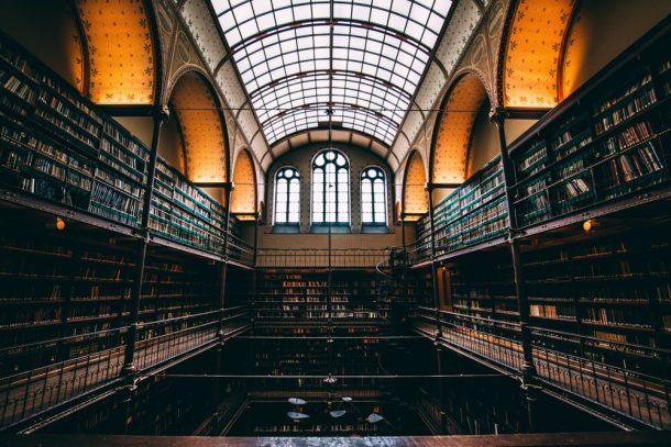 Cuypers Library in weird museums Amsterdam