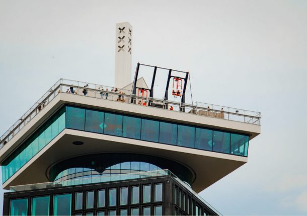 Swinging from the top of Adam lookout is an unusual and weird things to do in Amsterdam